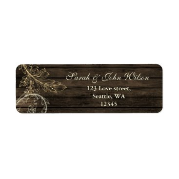 barnwood rustic flourish return address labels