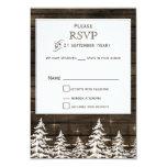 Barnwood Rustic Pine trees, winter standard rsvp Card