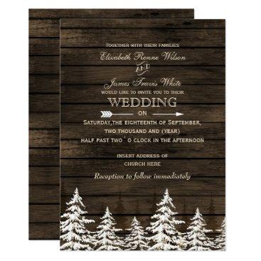 Barnwood Rustic Pine trees, winter woodland invite