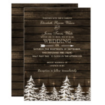 Barnwood Rustic Pine trees, winter woodland invite