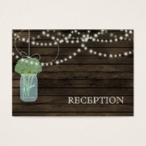 Barnwood Rustic sage mason jars reception invite