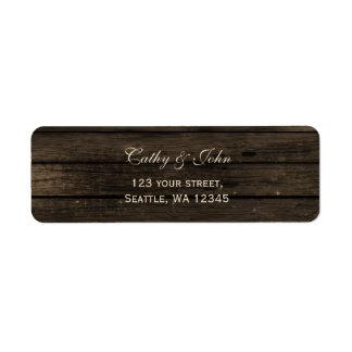 Barnwood rustic wedding address label