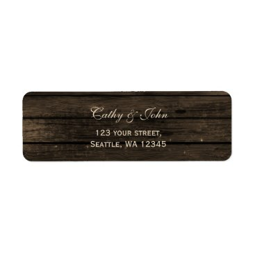 Barnwood rustic wedding address label