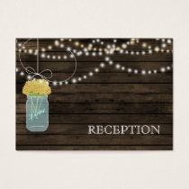 Barnwood Rustic yellow mason jars reception invite