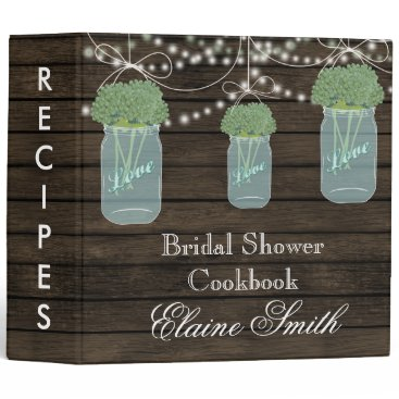 barnwood sage flowers Mason Jar Recipe Folder