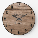 Barnwood Style Customizable Rustic Look Large Clock