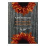 "Barnwood & Sunflower Fall Wedding Invitation 5"" X 7"" Invitation Card"