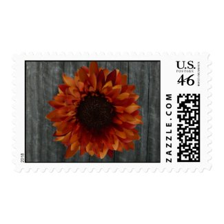Barnwood & Sunflower Postage stamp