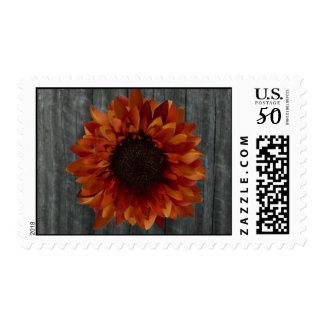 Barnwood & Sunflower Postage