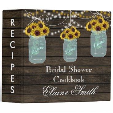 barnwood Sunflowers in Mason Jar Recipe Folder