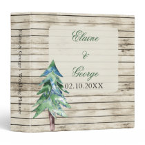Barnwood watercolor pine wedding Planner Binder