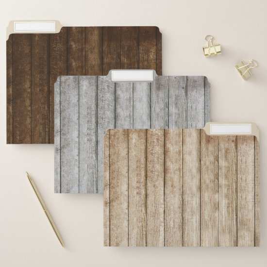 Barnwood Wood Grain File Folders
