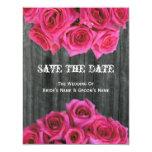 Barnwood y rosas que casan reserva la fecha invitacion personal