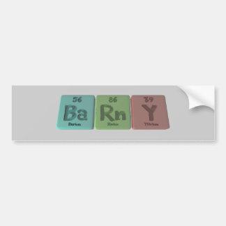 Barny-Ba-Rn-Y-Barium-Radon-Yttrium.png Bumper Sticker