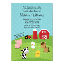 Barnyard Animal Baby Shower Invitation