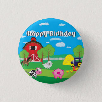 Barnyard Animal - Farm - Birthday Party - Badge Pinback Button