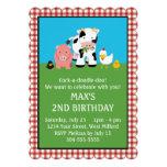 Barnyard Animal Friends Birthday Custom Announcements