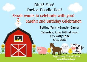 Petting zoo birthday invitations zazzle barnyard animals birthday invitation personalized filmwisefo
