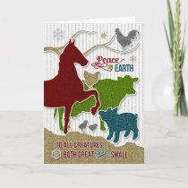 Barnyard Animals Christmas Scrapbook Theme Holiday Card