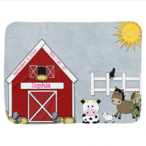 Barnyard Animals, Farm,  Custom Receiving Blanket