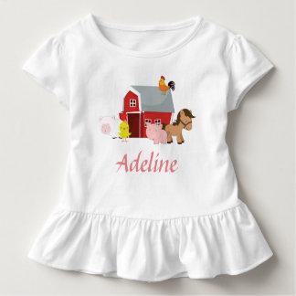 Barnyard Animals Girls Ruffle Shirt