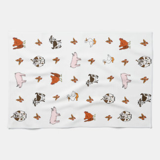 Barnyard Animals Kitchen Towel