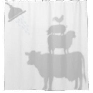 Barnyard Animals Shadow Silhouette Buddies Shower Curtain