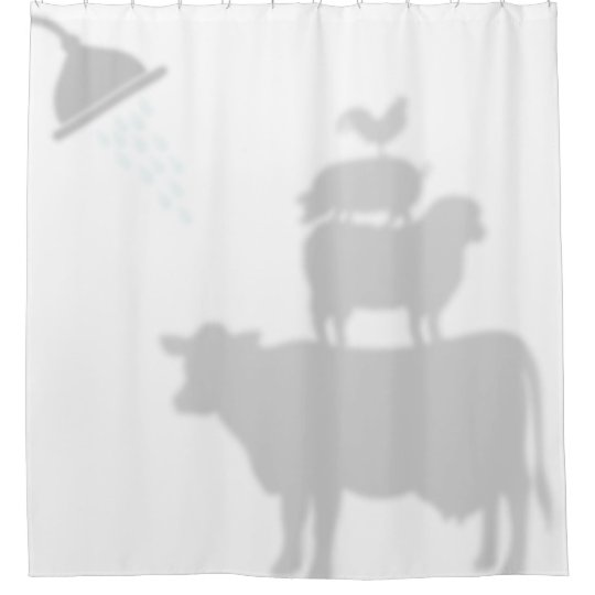 Barnyard Animals Shadow Silhouette Buddies Shower Curtain