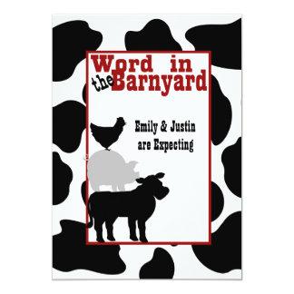Barnyard Baby Shower 5x7 Paper Invitation Card