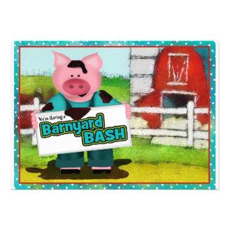 Barnyard Bash Party Custom Announcement
