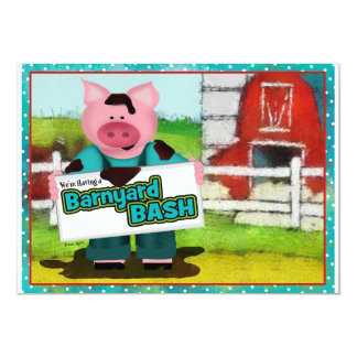 Barnyard Bash Party 5x7 Paper Invitation Card