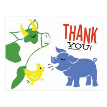 Barnyard Bash Thank You Postcard
