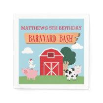 Barnyard Birthday Bash/Party Napkin