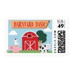 Barnyard Birthday Bash/Party Postage Stamp