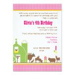 "Barnyard Birthday Invitation 5"" X 7"" Invitation Card"