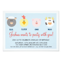 Barnyard Birthday Invitation