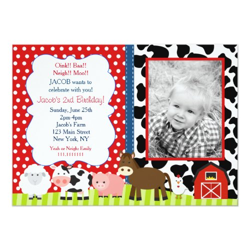 Barnyard Birthday Party Invitations