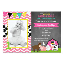 Barnyard Birthday Party Invitations for Girl