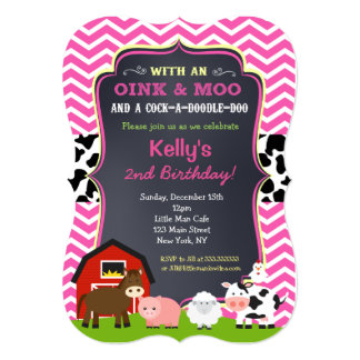 barnyard birthday party invitations for girl - Girl Birthday Party Invitations