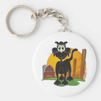 Barnyard Cat Basic Round Button Keychain