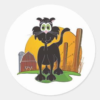 Barnyard Cat Classic Round Sticker