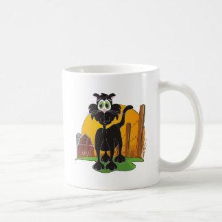 Barnyard Cat Classic White Coffee Mug