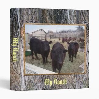 Barnyard Cattle 3 Ring Binder