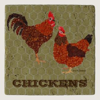 Barnyard Chickens Trivet