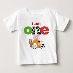 Barnyard Farm 1st Birthday Tshirt Toddler Baby Kid
