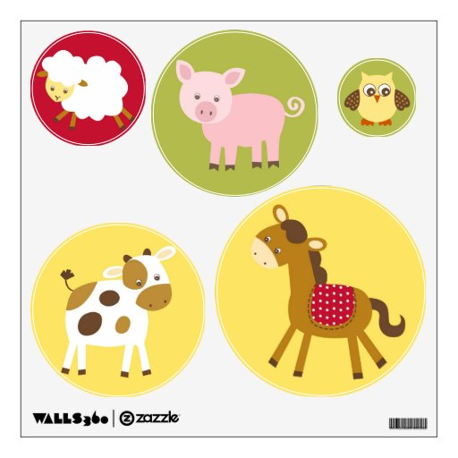 Barn Animals Wall Decals  Color The Walls Of Your House - Barnyard nursery wall decals