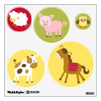 Barnyard Farm Animal Nursery Wall Stickers Decals