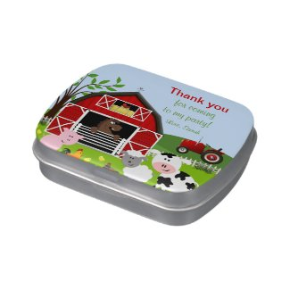 Barnyard Farm Animals Birthday Candy Tin