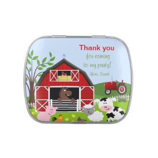 Barnyard Farm Animals Birthday Candy Tin