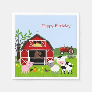 Barnyard Farm Animals Birthday Paper Napkins